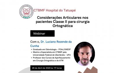 Dr. Luciano – Considerações Articulares nos pacientes Classe II para Cirurgia Ortognática! (Webinar)